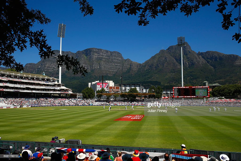 A general view during day one of the 2nd Test at Newlands Stadium on January 2, 2016 in Cape Town, South Africa.