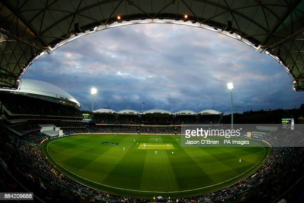 General view during day one of the Ashes Test match at the Adelaide Oval, Adelaide.