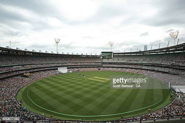 A general view during day one of the Boxing Day Second Test match between Australia and Pakistan at Melbourne Cricket Ground on December 26 2016 in...