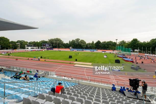 General view during day one of the European Athletics U23 Championships at Kadriorg Stadium on July 8, 2021 in Tallinn, Estonia.
