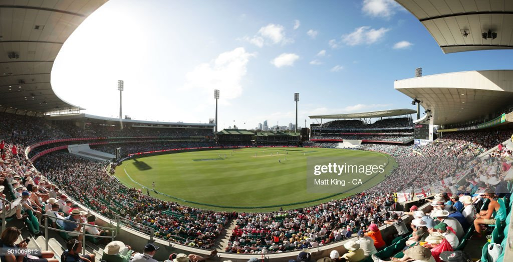 A general view during day one of the Fifth Test match in the 2017/18 Ashes Series between Australia and England at Sydney Cricket Ground on January 4, 2018 in Sydney, Australia.