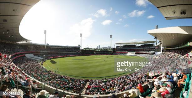 General view during day one of the Fifth Test match in the 2017/18 Ashes Series between Australia and England at Sydney Cricket Ground on January 4,...