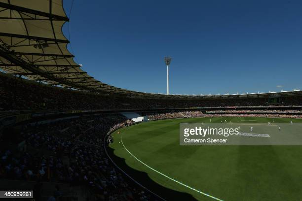 A general view during day one of the First Ashes Test match between Australia and England at The Gabba on November 21 2013 in Brisbane Australia