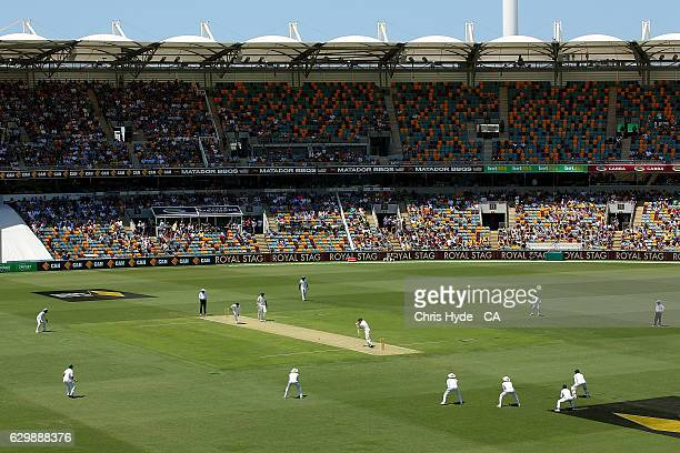 General view during day one of the First Test match between Australia and Pakistan at The Gabba on December 15 2016 in Brisbane Australia