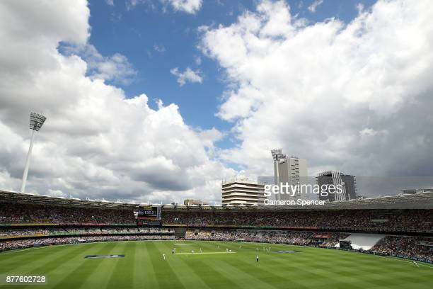 A general view during day one of the First Test Match of the 2017/18 Ashes Series between Australia and England at The Gabba on November 23 2017 in...