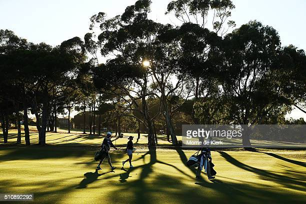 General view during day one of the ISPS Handa Women's Australian Open at The Grange GC on February 18, 2016 in Adelaide, Australia.