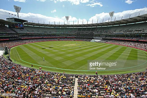 A general view during day one of the Second Test match between Australia and the West Indies at the Melbourne Cricket Ground on December 26 2015 in...