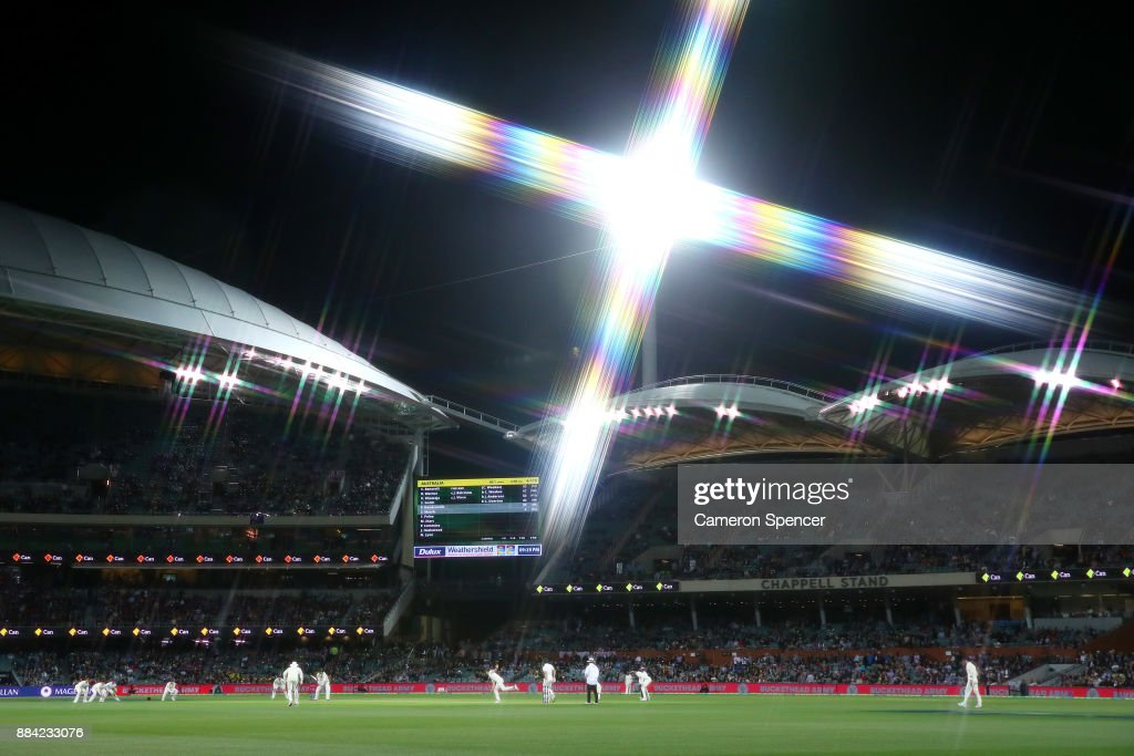 A general view during day one of the Second Test match during the 2017/18 Ashes Series between Australia and England at Adelaide Oval on December 2, 2017 in Adelaide, Australia.