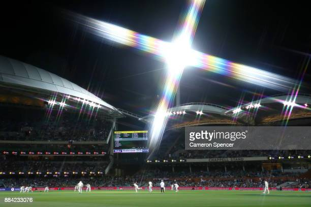 A general view during day one of the Second Test match during the 2017/18 Ashes Series between Australia and England at Adelaide Oval on December 2...