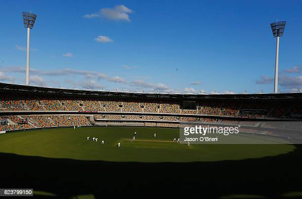 General view during day one of the Sheffield Shield match between Queensland and South Australia at The Gabba on November 17 2016 in Brisbane...