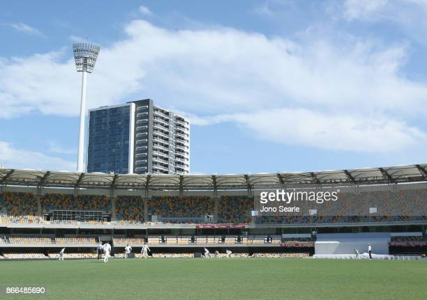 A general view during day one of the Sheffield Shield match between Queensland and Victoria at the Gabba on October 26 2017 in Brisbane Australia