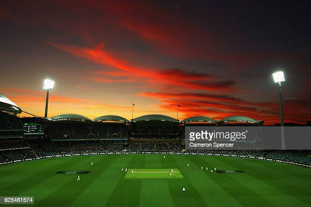 A general view during day one of the Third Test match between Australia and South Africa at Adelaide Oval on November 24 2016 in Adelaide Australia