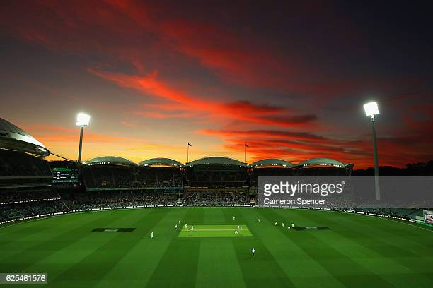 General view during day one of the Third Test match between Australia and South Africa at Adelaide Oval on November 24, 2016 in Adelaide, Australia.