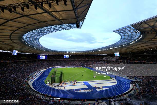 A general view during day six of the 24th European Athletics Championships at Olympiastadion on August 12 2018 in Berlin Germany This event forms...