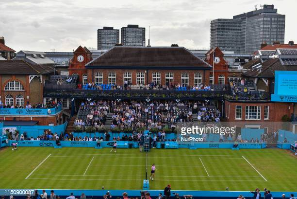 General view during day three of ATP Fever-Tree Championships tennis tournament at Queen's Club in west London on June 19, 2019.