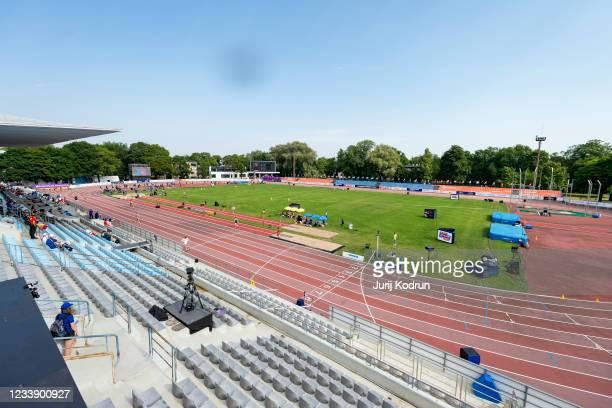 General view during day three of the 2021 European Athletics U23 Championships at Kadriorg Stadium on July 10, 2021 in Tallinn, Estonia.