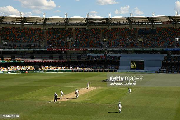 A general view during day three of the 2nd Test match between Australia and India at The Gabba on December 19 2014 in Brisbane Australia