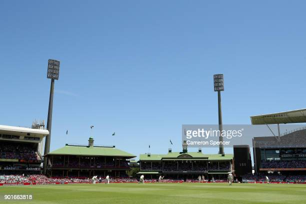 A general view during day three of the Fifth Test match in the 2017/18 Ashes Series between Australia and England at Sydney Cricket Ground on January...