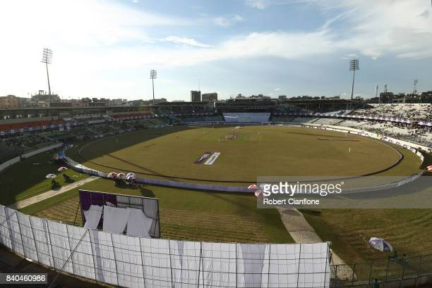 A general view during day three of the First Test match between Bangladesh and Australia at Shere Bangla National Stadium on August 29 2017 in Mirpur...