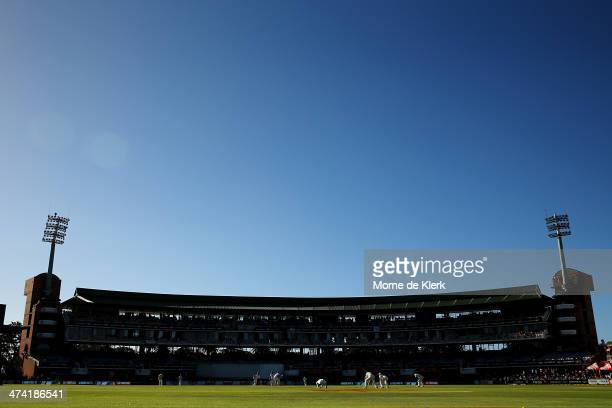 A general view during day three of the Second Test match between South Africa and Australia at AXXESS St George's Cricket Stadium on February 22 2014...