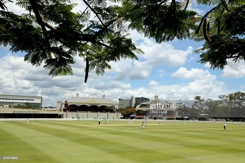 General view during day three of the Sheffield Shield match between Queensland and New South Wales at Allan Border Field on November 15, 2017 in Brisbane, Australia.