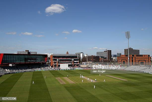 General view during day three of the Specsavers County Championship Division One match between Lancashire and Nottinghamshire at Old Trafford on...