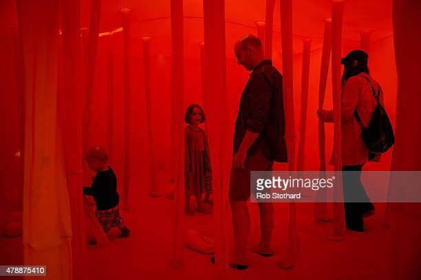 A general view during day two of 'Station To Station A 30 Day Happening' opening weekend at Barbican Art Gallery on June 28 2015 in London England...