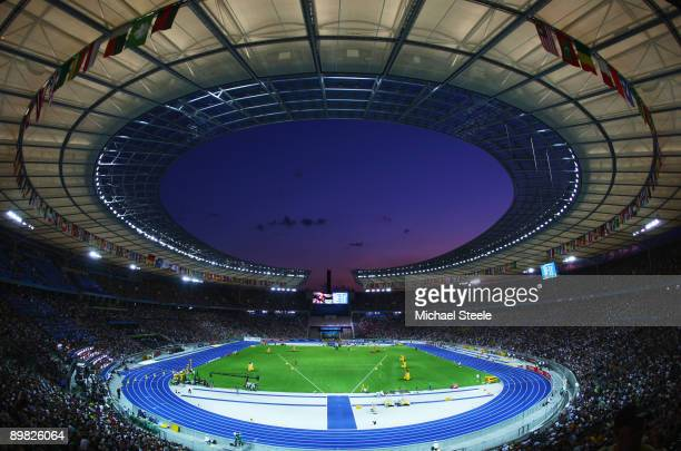 A general view during day two of the 12th IAAF World Athletics Championships at the Olympic Stadium on August 16 2009 in Berlin Germany