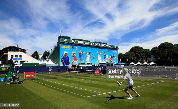 A general view during Day Two of the Nature Valley International at Devonshire Park on June 23 2018 in Eastbourne United Kingdom