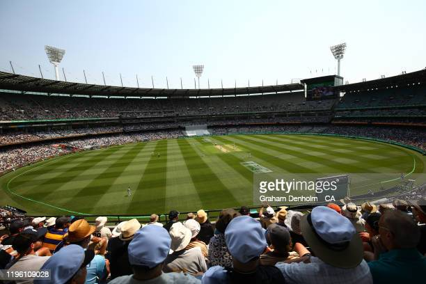 A general view during day two of the Second Test match in the series between Australia and New Zealand at Melbourne Cricket Ground on December 27...