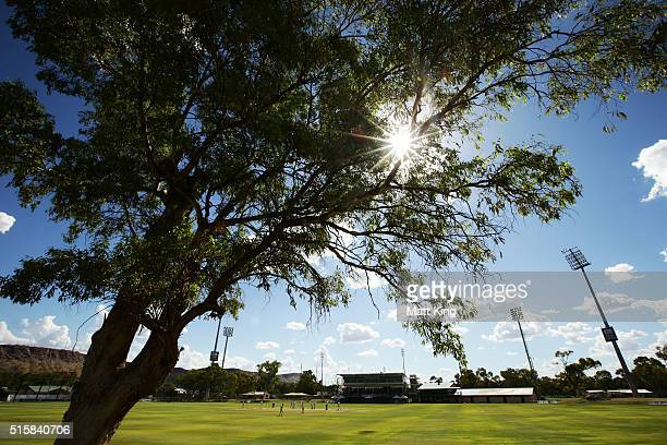 A general view during day two of the Sheffield Shield match between Victoria and New South Wales at Traeger Park on March 16 2016 in Alice Springs...