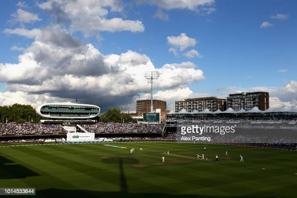 A general view during Day two of the Specsavers 2nd Test between England and India at Lord's Cricket Ground on August 10 2018 in London England