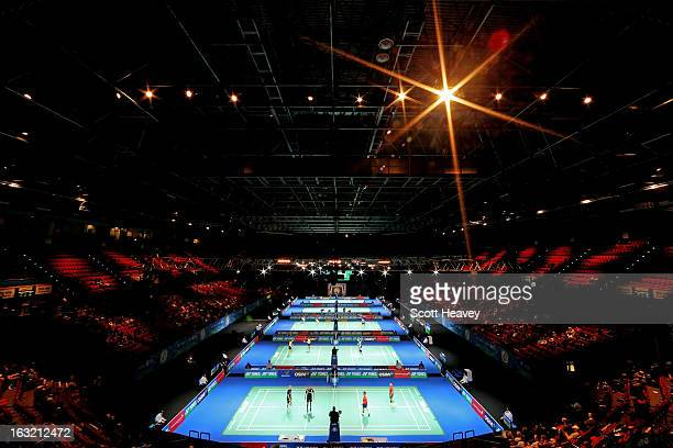 General view during Day Two of the Yonex All England Badminton Open at NIA Arena on March 6, 2013 in Birmingham, England.