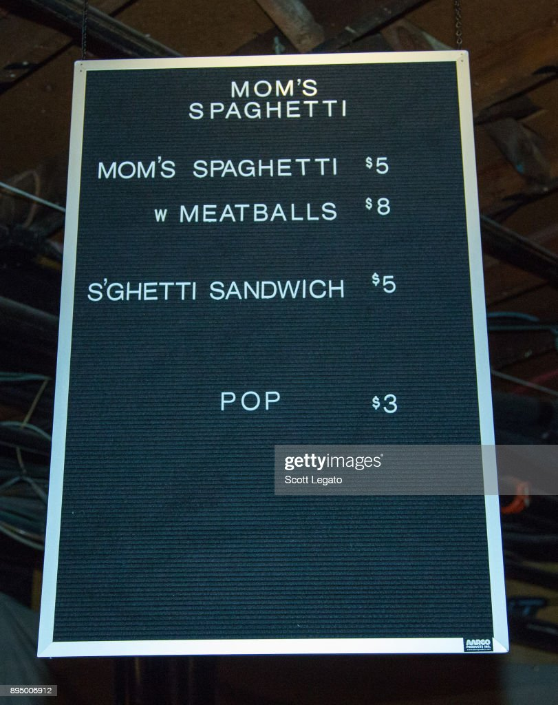 General view during Eminem's Mom's Spaghetti Pop Up store at The Shelter on December 15, 2017 in Detroit, Michigan.