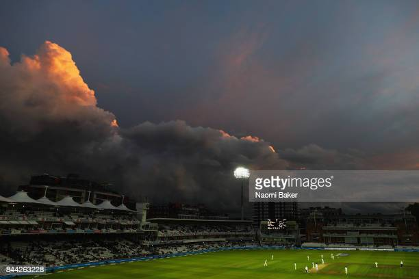 General view during England v West Indies 3rd Investec Test Day Two at Lord's Cricket Ground on September 8 2017 in London England