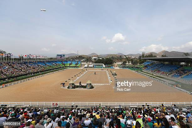 A general view during equestrian on Day 2 of the Rio 2016 Olympic Games at the Olympic Equestrian Centre on August 7 2016 in Rio de Janeiro Brazil