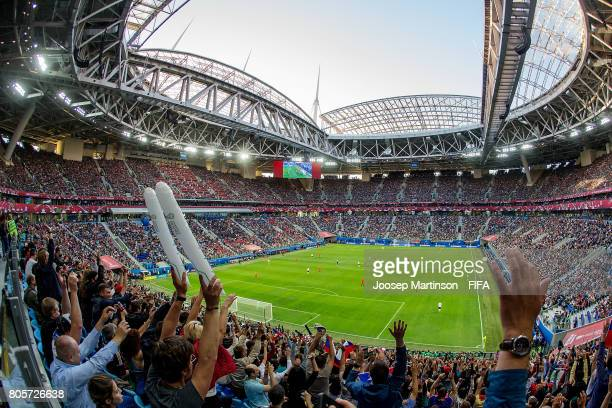 General view during FIFA Confederations Cup Russia final match between Chile and Germany at Saint Petersburg Stadium on July 2, 2017 in Saint...