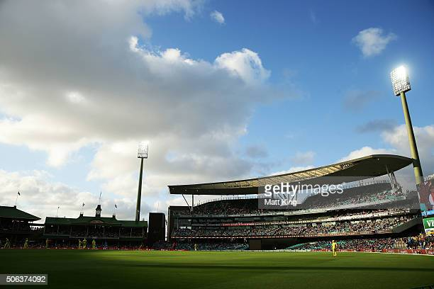 A general view during game five of the Commonwealth Bank One Day Series match between Australia and India at Sydney Cricket Ground on January 23 2016...