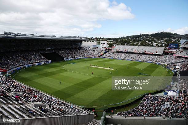 General view during game five of the One Day International series between New Zealand and South Africa at Eden Park on March 4 2017 in Auckland New...
