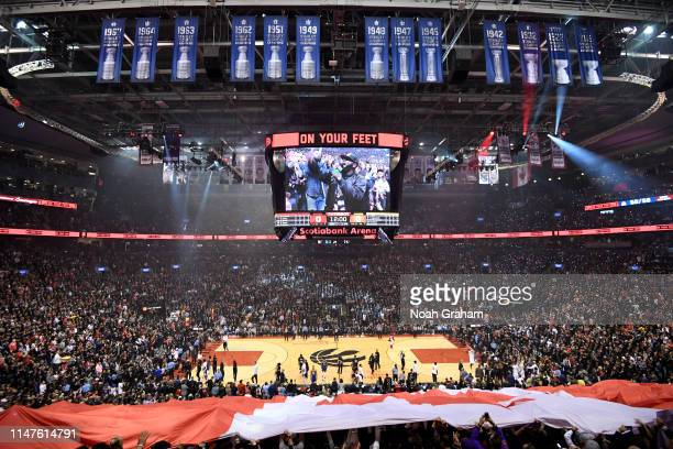 A general view during Game One of the NBA Finals between the Golden State Warriors and Toronto Raptors on May 30 2019 at Scotiabank Arena in Toronto...
