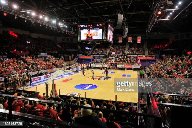 General view during game one of the NBL Semi-Final Series between the Illawarra Hawks and the Perth Wildcats at WIN Entertainment Centre, on June 12...
