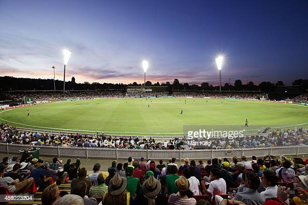 A general view during game three of the One Day International Series between Australia and South Africa at Manuka Oval on November 19 2014 in...