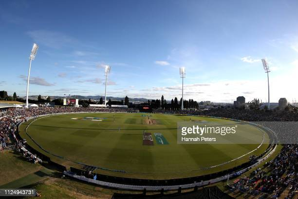 A general view during game two of the One Day International Series between New Zealand and India at Bay Oval on January 26 2019 in Mount Maunganui...