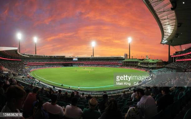 General view during game two of the One Day International series between Australia and India at Sydney Cricket Ground on November 29, 2020 in Sydney,...