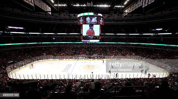 A general view during Game Two of the Western Conference Final between the Chicago Blackhawks and the Los Angeles Kings during the 2014 Stanley Cup...