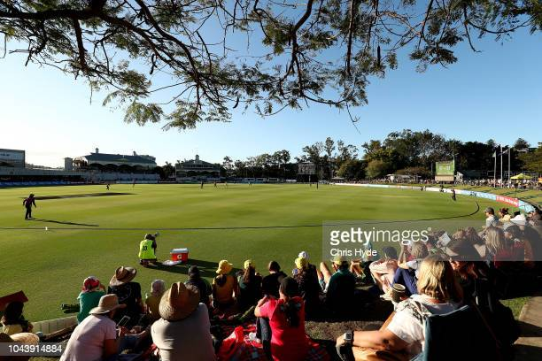 General view during game two of the Women's International Twenty20 series between Australia and New Zealand at Allan Border Field on October 1 2018...