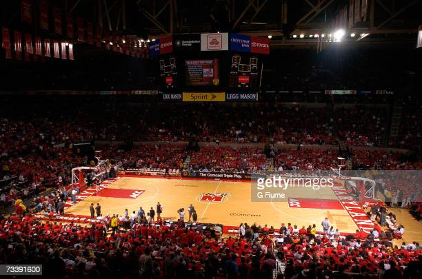 General view during halftime of the game between the Florida State Seminoles and the Maryland Terrapins on February 22 2007 at Comcast Center in...