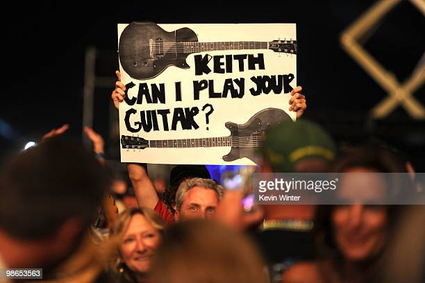 A general view during Keith Urban's performance during day 1 of Stagecoach California's Country Music Festival 2010 held at The Empire Polo Club on...
