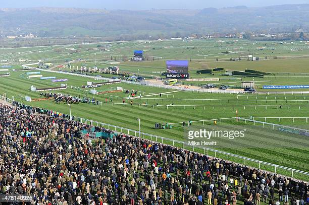 A general view during Ladies Day at Cheltenham Festival at Cheltenham Racecourse on March 12 2014 in Cheltenham England