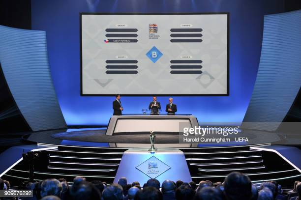 A general view during League B draw of the UEFA Nations League Draw on January 24 2018 in Lausanne Switzerland